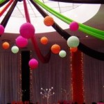 Colourful Strip Draping with Balls