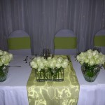 Glass Vases on main table