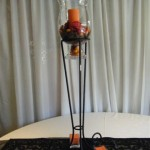 Hurricane Lamp on stand