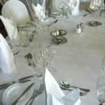 Classical table setting for a wedding