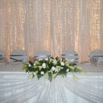 Draping with curtain lights and Main Table