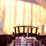 Draping with Curtain Lights