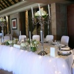 Main bridal table - traditional white wedding
