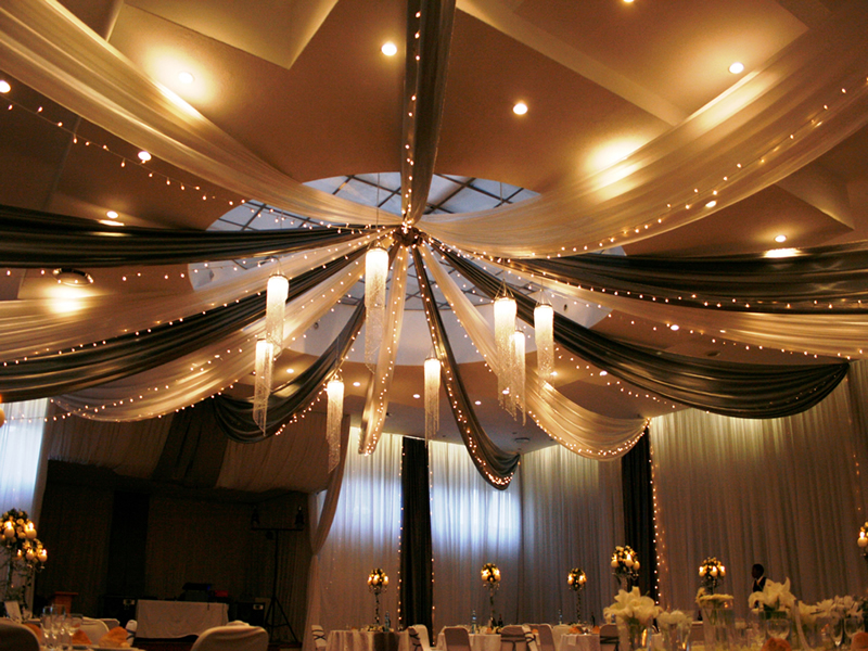 Draping And Fairy Lights Classy Candle Hire
