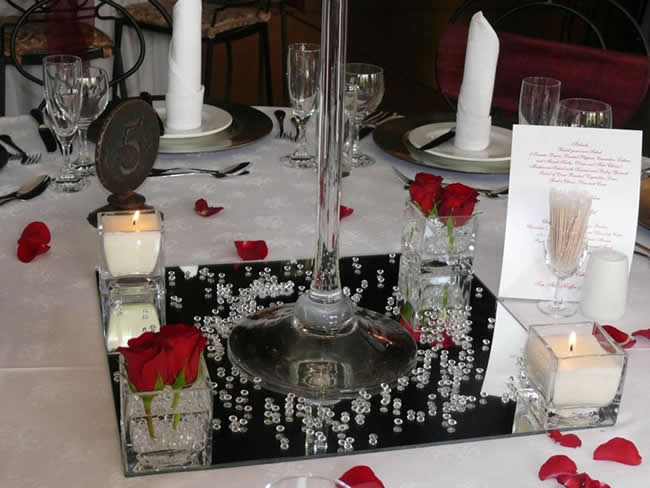 Mirror Base With Votive Candles
